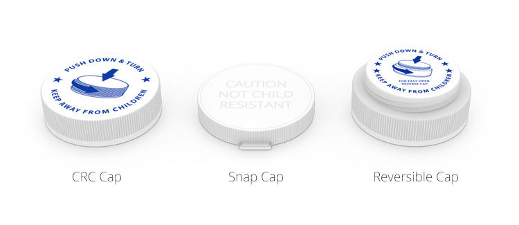 Colorsafe Cap Types