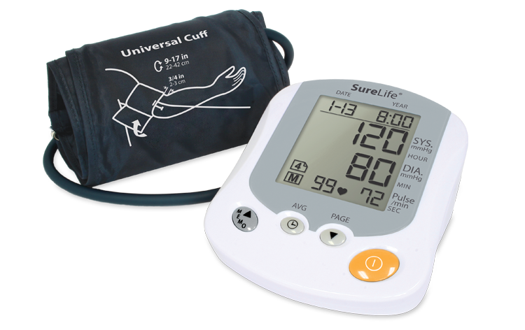 surelife premium arm blood pressure monitor