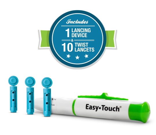 EasyTouch Lancing Device and Twist Lancets